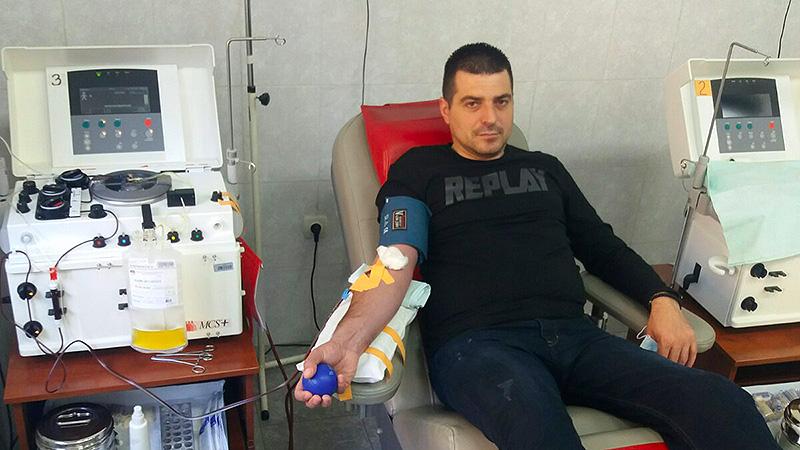 Slaviša Stanojević donirao krvnu plazmu nakon preležane korone